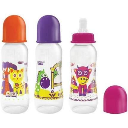 Детская бутылочка Lubby Русские мотивы 240 мл в ассортименте