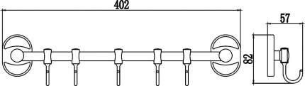 Планка с крючками (5 крючков) Savol S-008205