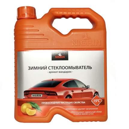 Жидкость для стеклоомывателя Nigrin NIG4W15 зимняя до -15°C Мандарин 4 л