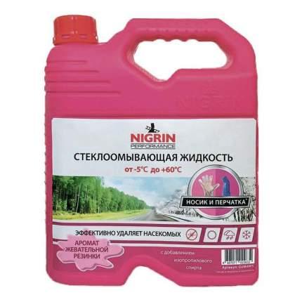 Жидкость для стеклоомывателя Nigrin Жевательная резинка летняя до +60°C 4 л