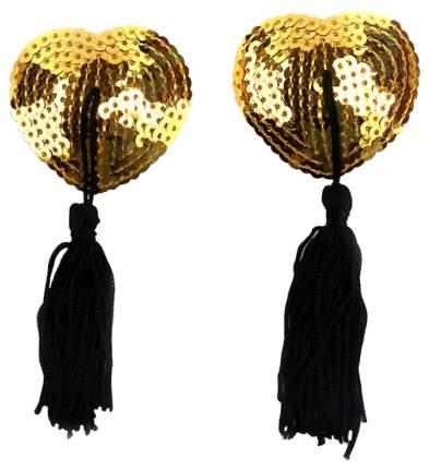 Золотистые пэстисы для груди KISSEXPO с пайетками