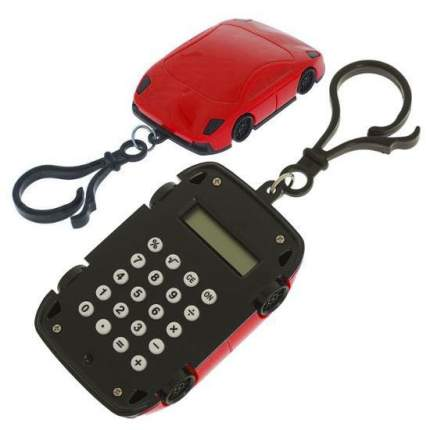 Брелок 8-разрядный калькулятор Машинка Красный
