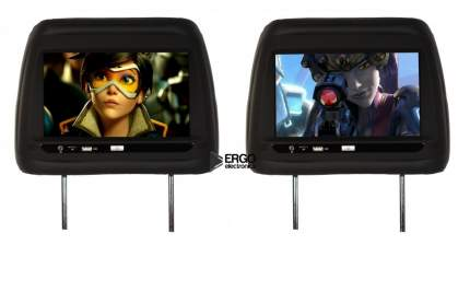 Подголовник с монитором ERGO Electronics ER10AND (черный)
