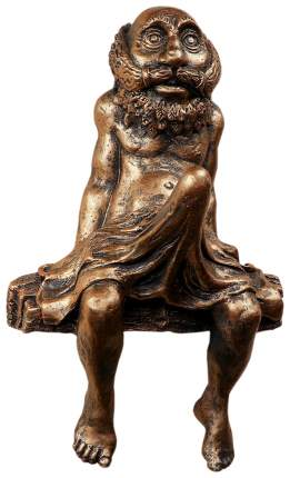 """Хорошие сувениры Консоль-навес """"Дед в полотенце"""" 34,5х22х12,5см 3954678"""