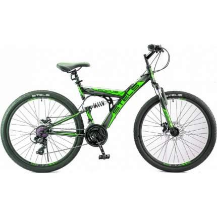 """Велосипед Stels Focus MD 2020 18"""" черный/зеленый"""