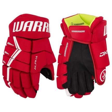 Перчатки хоккейные Warrior Alpha DX5, 13, красный