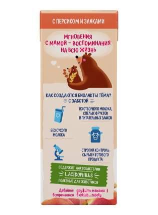 Биолакт Тема персик-злаки с 8 месяцев 3% 206 г бзмж