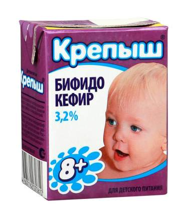 Бифидокефир Крепыш 3,2% с 8 месяцев бзмж