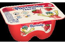 Десерт Растишка творожный клубника с 3 лет 3,5% 100 г бзмж