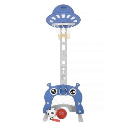 Стойка баскетбольная детская PITUSO МАРСИК (с кольцебросом, футб.воротами) BLUE/Синий