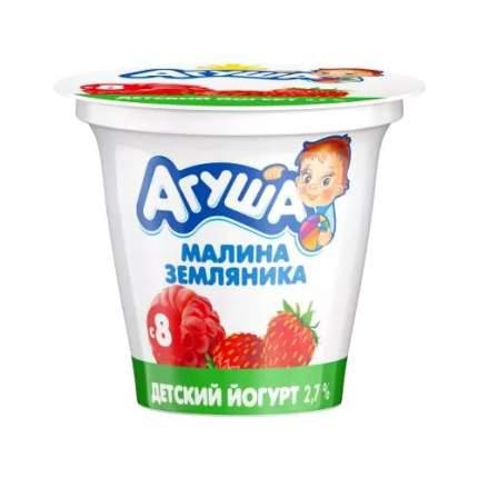 Йогурт Агуша земляника и малина с 8 месяцев 2,7% 90 г бзмж