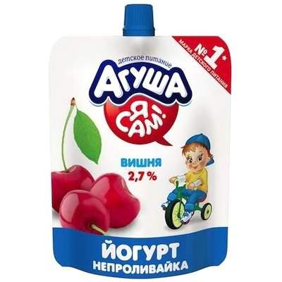 Йогурт Агуша Я Сам питьевой вишня 2,7%