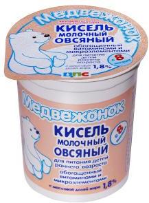 Кисель Медвежонок молочный овсяный с 8 месяцев 1,8% 200 г