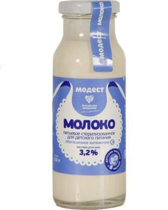 Молоко Модест с витамином С стерилизованное с 8 месяцев 3,2% 200 г