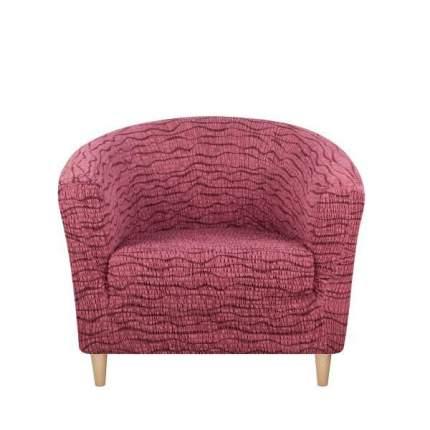 Чехол на кресло Тела Ракушка Ридже бордовый
