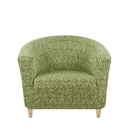 Чехол на кресло Тела Ракушка Безарро зеленый