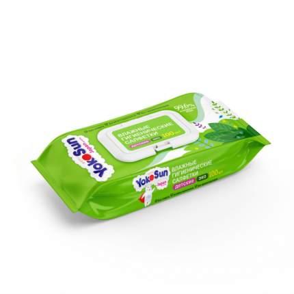 Влажные детские салфетки YokoSun Eco 100 шт.