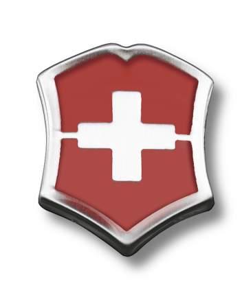 Значок Victorinox 4.1888 в форме креста на щите красно-серебристый