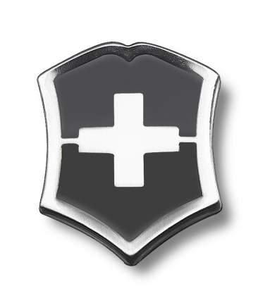 Значок Victorinox 4.1888.3 в форме креста на щите черно-серебристый