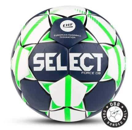 Мяч гандбольный Select Force DB, 1, белый, матчевый, ручная сшивка