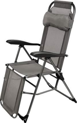 Кресло-шезлонг Nika 3 К3/ГР с подножкой, складное