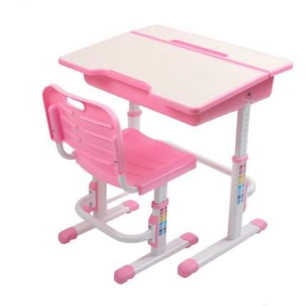 Стол + стул трансформер EVOLIFE Study 2 розовый