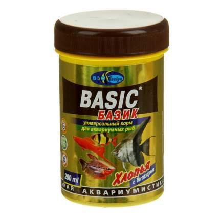 Корм для декоративных рыб Biodesign Базик, хлопья, 250 мл