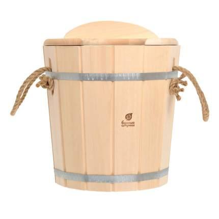 """Запарник """"Банные штучки"""", с пластиковой вставкой и крышкой, липа, 12 л"""