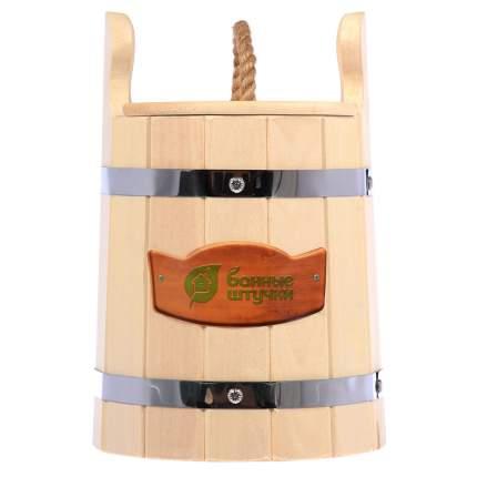"""Кадка для воды и заготовки солений """"Банные штучки"""", с крышкой и гнётом, липа, 5 л"""