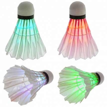 Воланчики светящиеся, для игры в бадминтон (4 шт.)
