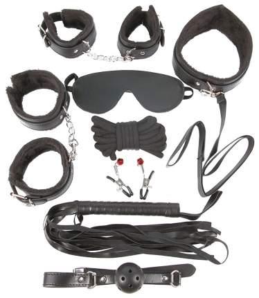 Большой набор наручники, оковы, маска, кляп, плеть, ошейник, поводок, веревка, зажимы