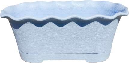 Горшок для цветов балконный La Fleur 40 см светло-синий