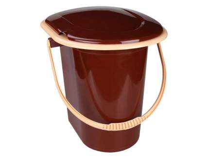 Ведро-туалет, 17 л (коричневый)