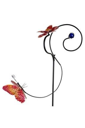 "Фигура декоративная для сада ""Бабочка у цветка"", 32x21x120 см"