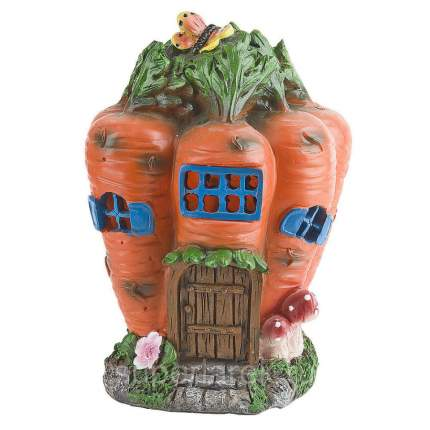 "Фигура декоративная для сада ""Морковный домик"", 14x14x21 см"