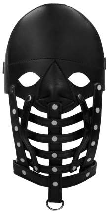 Маска-шлем Leather Male Mask Shots Media BV черный