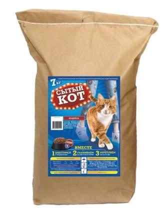 Сухой корм для кошек Сытый кот, с индейкой, 7 кг