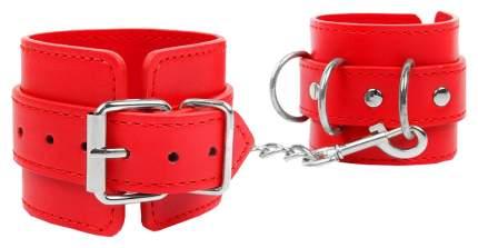 Наручники на регулируемых ремешках с цепочкой Bior toys красный