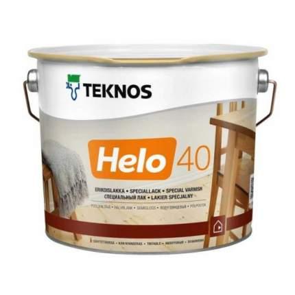 Лак для пола Teknos Helo 40 полуглянцевый (2,7 л)