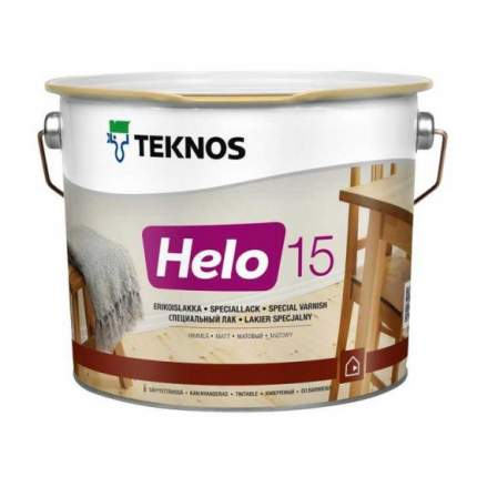 Лак для пола Teknos Helo 15 матовый (9 л)