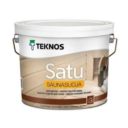 Антисептик для бани и сауны Teknos Satu Saunasuoja / Текнос Сату Саунасуоя 2,7л.