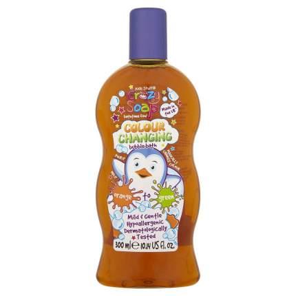 Пена для ванны Kids Stuff меняющая цвет из оранжевого в зеленый, 300 мл