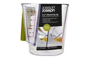 Стакан мерный Joseph Joseph 40067 2в1 прозрачный