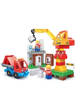Конструктор Bauer Стройка с краном и грузовиком