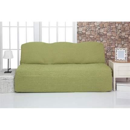"""Чехол на трехместный диван без подлокотников и оборки Venera """"Sofa"""", цвет: фисташковый"""