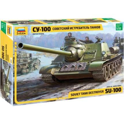 Модели для сборки ZVEZDA Советский истребитель танков СУ-100 1:35
