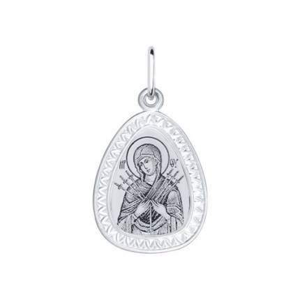 Серебряная нательная иконка с ликом Божьей Матери Семистрельной SOKOLOV 94100151