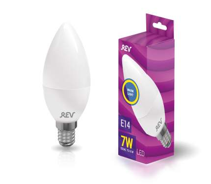 Лампочка светодиодная LED, свеча Е14 7W 2700K теплый свет