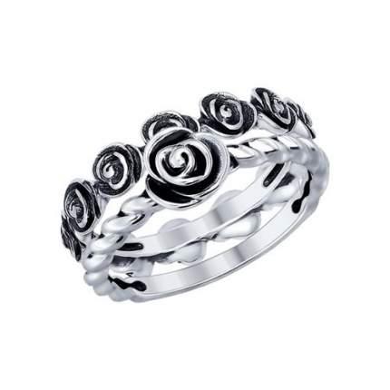 Кольцо женское SOKOLOV из серебра 95010082 р.18.5