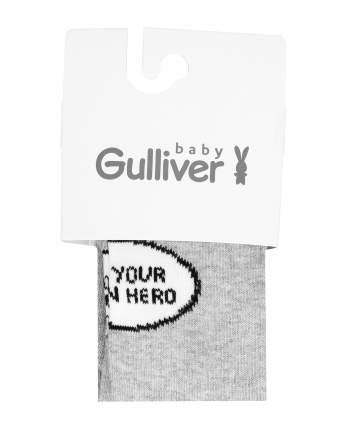 Колготки для мальчиков Gulliver, цв. серый, р.74